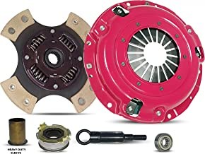 Clutch Kit And Sleeve Works With Subaru Forester Impreza Legacy X Base Limited Premium Touring Outback L H6 L.L. Bean VDC Sedan Wagon 1996-2012 2.0L H4 2.5L H4 3.0L H6 (4-Puck Clutch Disc Stage 3)