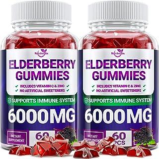 (2 - Pack) Sаmbuсus Elderberry Gummies for Adults Kids Toddlers with Vіtаmіn С & Zіnс - Herbal Supplement for Immune Suppo...