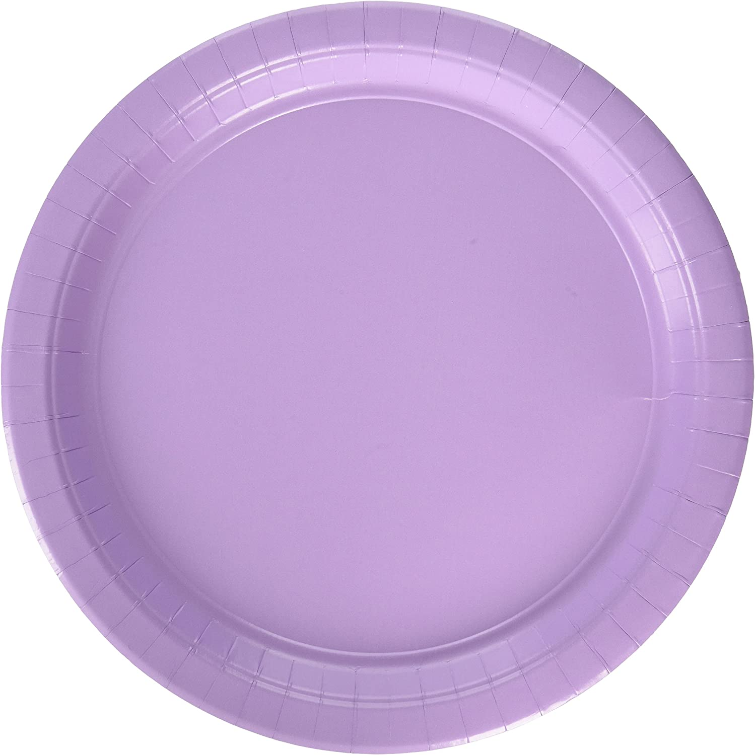 Lavender Round Paper Plates   10.5    Party Supply   120 ct.