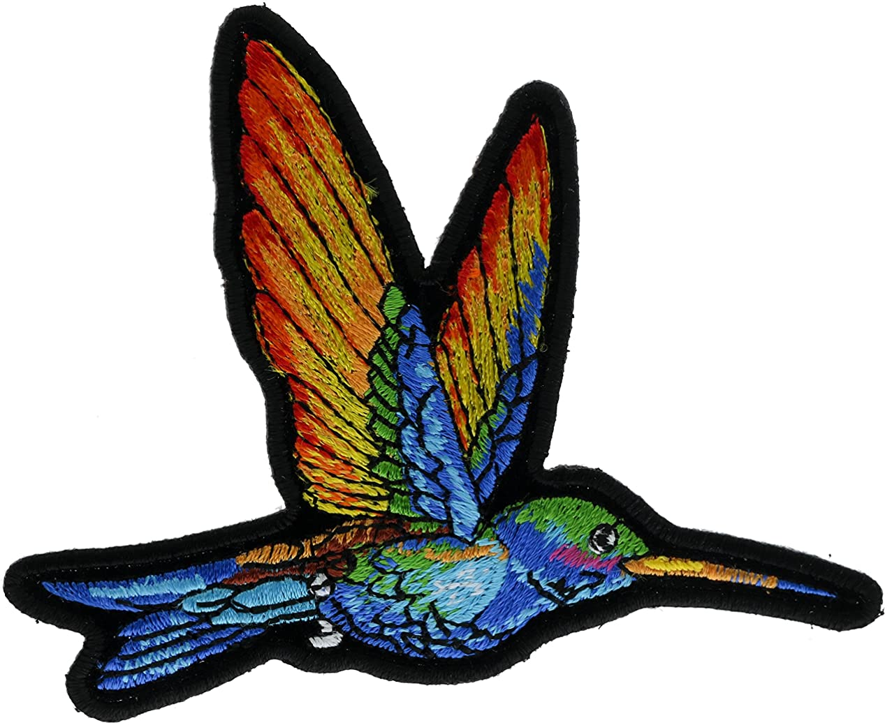 Humming Bird Colorful 4 inch Embroidered Patch NOVPAhummingbird