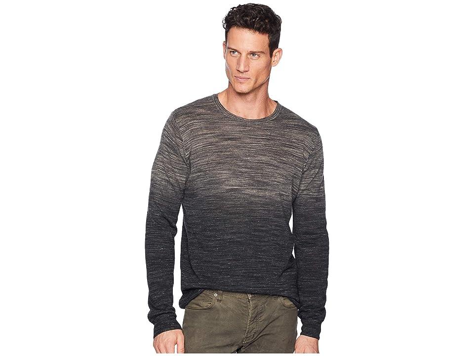 BUGATCHI Long Sleeve Sweater (Graphite) Men