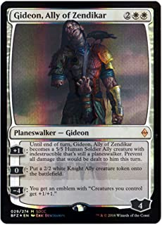 Magic SDCC 2016 The Gathering Exclusive Planeswalker Zombie Gideon, Ally of Zendikar Foil Card