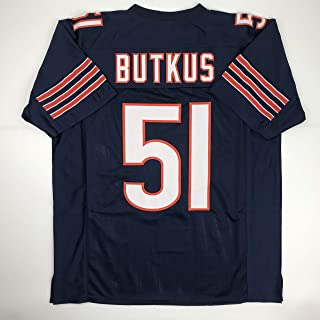 Unsigned Dick Butkus Chicago Blue Custom Stitched Football Jersey Size Men`s XL New No Brands/Logos