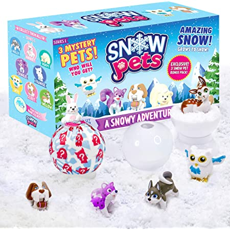 Collectible Animal Figurines for Boys and Girls Series 1 A Snowy Adventure Mystery to Be Amazing Toys Snow Pets Cute Pencil Toppers Fun Snow Toys for Children Surprise Snow Pals for Kids