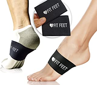 Plantar Fasciitis Support Braces - Fast Foot Pain Relief - More Effective & Easier to Use Than Traditional Night Splints, Orthotics, Taping, Socks & Insoles - 2 Pairs - 1 Size Fits Most