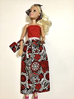Doll clothes Doll fashionable strapless dress Halter style dress made for 28 inch dolls