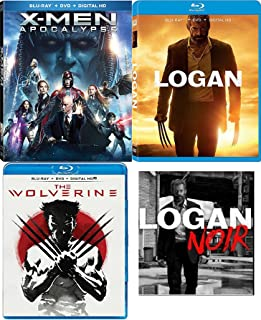 Noir Logan Special Edition 3 Disc Movie Pack Blu-Ray + DVD + DHD Hugh Jackman Wolverine & X-men: Apocalypse Super Hero Triple Feature