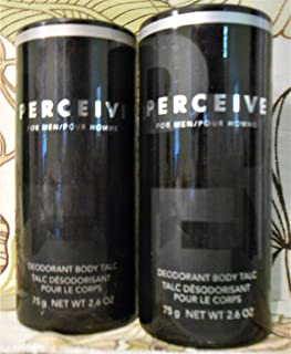 Avon Perceive for Men Deodorant Body Talc Vintage Fragrance 2.6oz Set