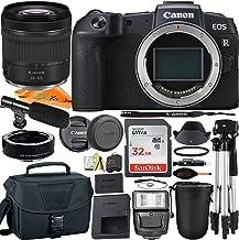 Cámara digital Canon EOS RP sin espejo de 26,2 MP marco completo con lente RF24-4.134in + adaptador de montaje + micrófono + tarjeta SanDisk 32 GB + funda + trípode + paquete de accesorios ZeeTech (22 unidades)