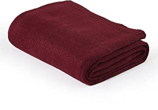 Casa Cable Knit Throw, Merlot