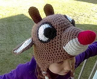 Red Nosed Reindeer Crochet hat