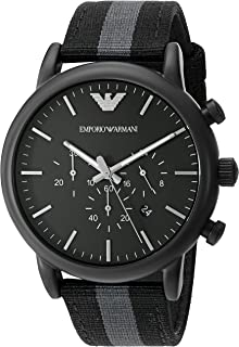 Men's AR1948 Dress Black Nylon Watch