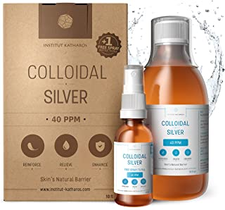 Premium Colloidal Silver 40ppm 10 fl oz ● Optimal Concentration Formula, Smaller Particles, Better Results ● Laboratory Ce...
