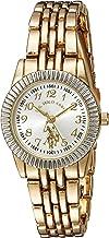 U.S. Polo Assn. Women's Analog-Quartz Watch with Alloy Strap, Gold, 6 (Model: USC40098)
