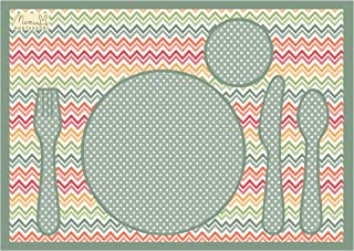 Mantel individual irrompible Montessori zigzag