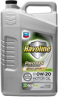 Havoline PRO DS Full Synthetic 0W20 Oil, 5 quart
