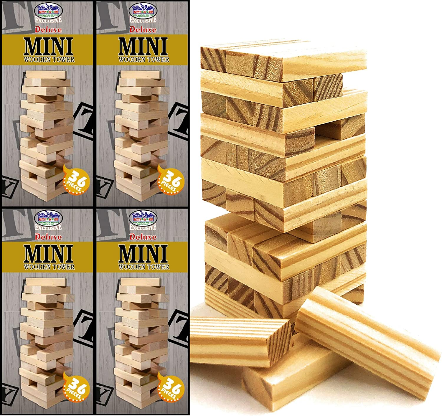 Sale Special Price Mini Luxury Wooden Tower 36 Piece Stacking Party 4.25