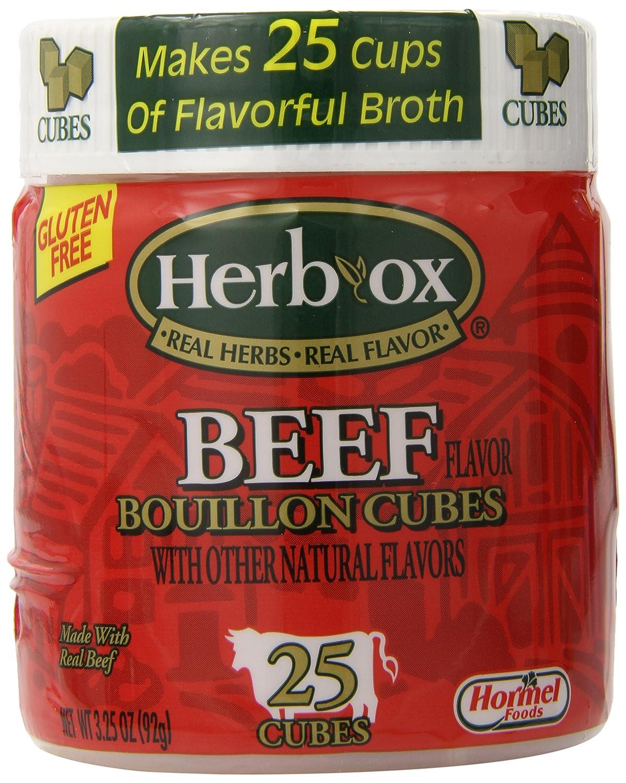 Herbox Bouillon Cubes wholesale Beef Save money 25 cubes of6 Pack 3.2500-ounces