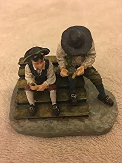 Williamsburg Collectibles: Man and Boy Whittling