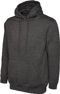 Uneek Mens Classic Plain Pullover Hooded Sweatshirt Hoodie Sweater (22 Colours)