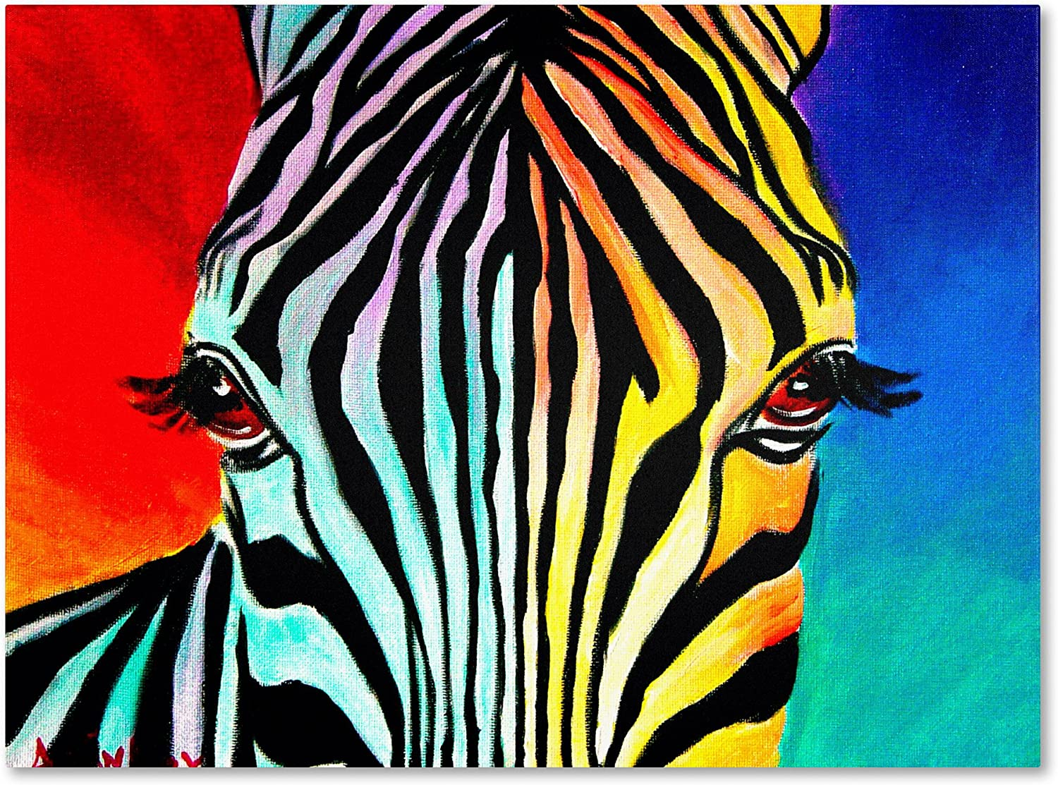 Zebra Artwork Super beauty product restock quality top by DawgArt 18 Wall Canvas 24-Inch Art Manufacturer OFFicial shop