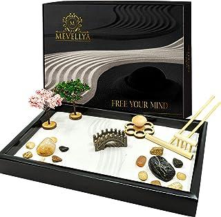 Zen Garden Kit - Beautiful Japanese Zen Garden - 11x7 Inches Zen Garden for Desk - Zen Garden Sand Kit - Zen Decor - Desktop Zen Garden - Gift for Women - Meditation Decor - Gift for Her