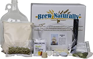 Brew Naturally Shellback IPA Homebrew Starter Kit | The Ultimate 1-Gallon DIY Home Brewing Pack | Set Includes Equipment & Ingredients with Easy-To-Follow Recipe for Making Your Own Craft Beer