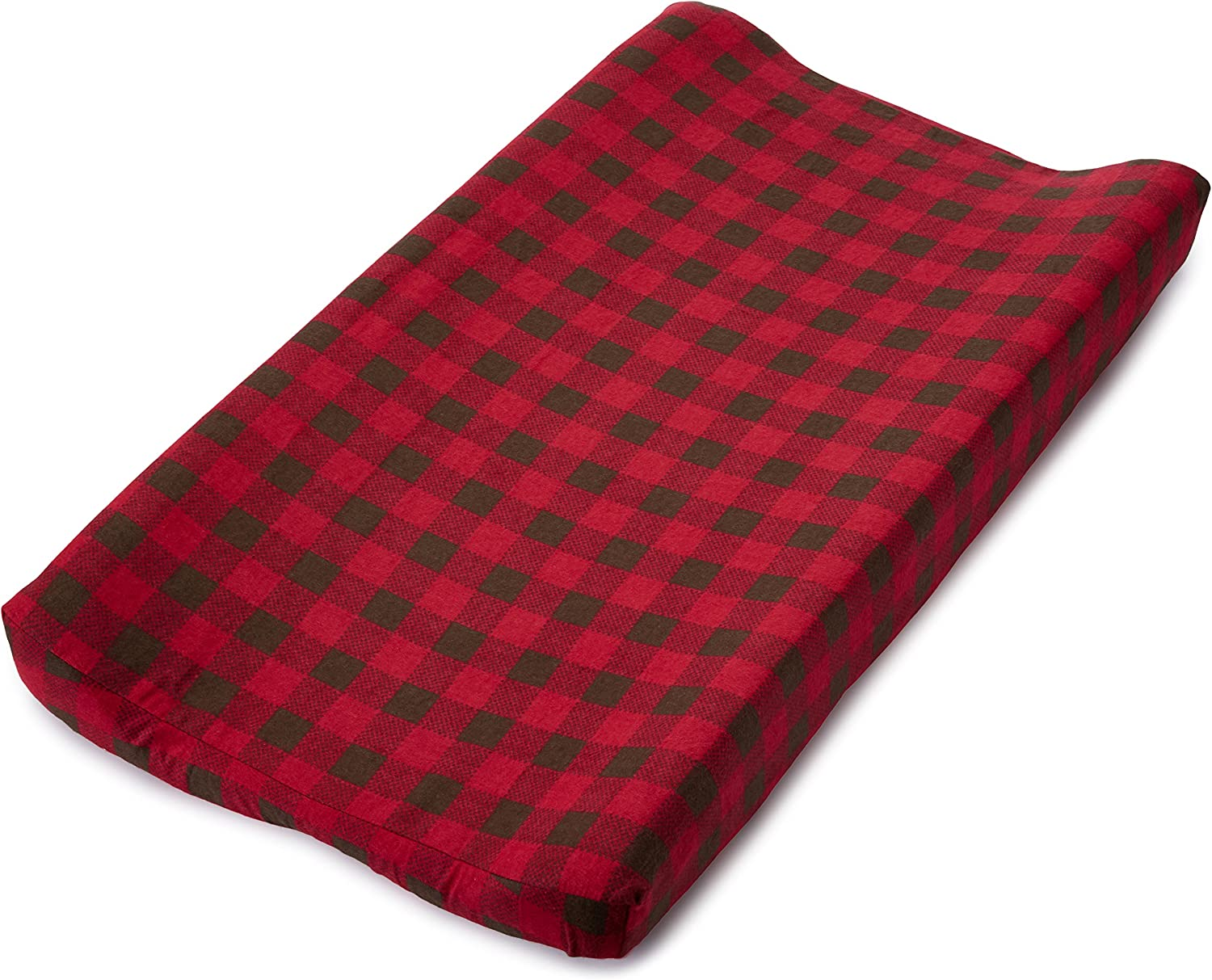 Amazon Com Trend Lab Northwoods Changing Pad Cover Buffalo Check Baby