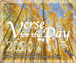 Verse for the Day 2020 Daily Bible Calendar with KJV Scripture - 366 Pages