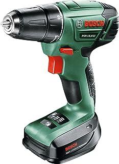 Bosch PSR 14.4 LI Cordless Drill Driver, 603954370, Green, 14.4 V Lithium-Ion Battery
