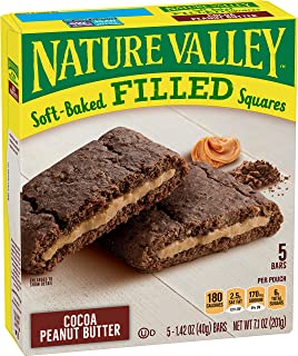 Nature Valley Soft-Baked Oatmeal Squares Cocoa Peanut Butter, 6 ct, 7.1 oz