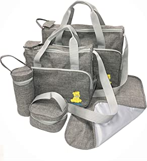 Just4baby 5pcs Waterproof Grey Large Baby Nappy Diaper