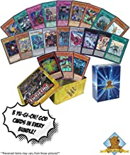 50 Card Yugioh Lot Plus Yugioh God Card Set - Obelisk The Tormentor - The Winged Dragon of Ra - Slifer The Sky Dragon - Holos - 1 Empty Yugioh Tin for Store - Golden Groundhog Box!
