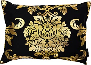 Kensie Oliver Decorative Pillows, Inserts & Covers, Black-Gold