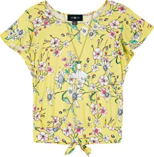 Girls' Big Flutter Sleeve Top with Back Tie