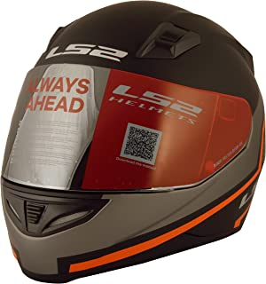 LS2 Piston Full Face Helmet (Black, L)