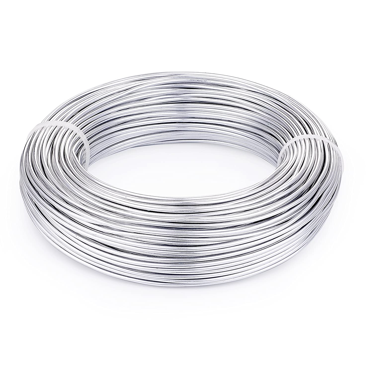 Pandahall 656 Feet Silver Aluminum Craft Wire 20 Gauge Flexible Metal Wire for Jewelry Making