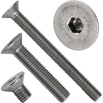 - M8x45 - - DIN 7991 // ISO 10642 SC-Normteile/® Senkschrauben Werkstoff: Edelstahl A2 V2A ISK 20 St/ück Vollgewinde SC7991 Senkkopfschrauben mit Innensechskant