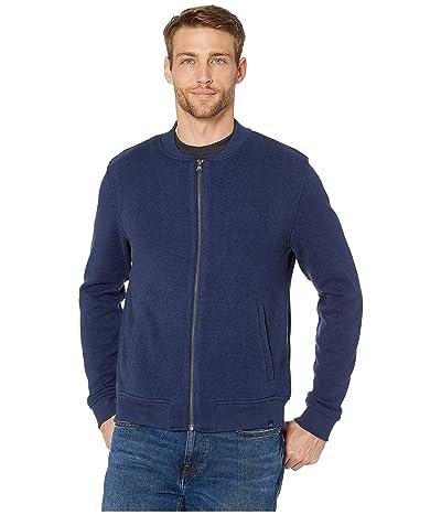 Southern Tide Samson Peak Sweater Fleece Bomber Jacket (Heather True Navy) Men