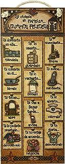 AÑORANZA, Letrero decorativo de madera, Reglas del Hogar, letrero de madera con texto en español, letrero vintage