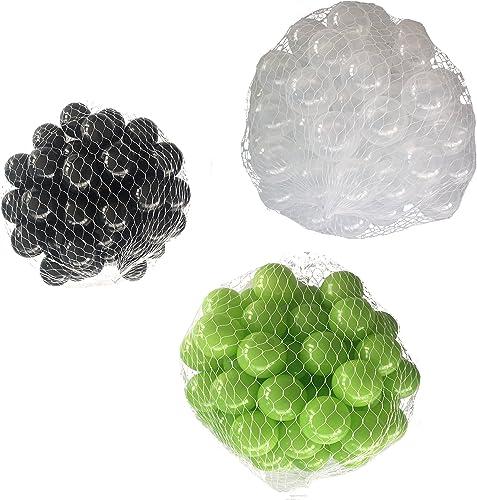 el estilo clásico Pelotas para para para pelotas baño variadas Mix con verde claro, transparente y negro Talla 6000 Stück  los últimos modelos