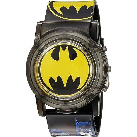 DC Comics Batman Kids' BAT6000SR Digital Display Analog Quartz Black Watch
