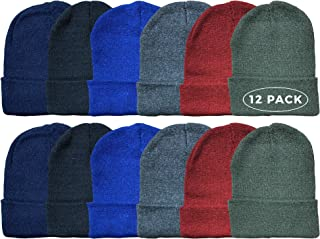 Kids Winter Beanie Hat Assorted Colors Bulk Pack Warm...