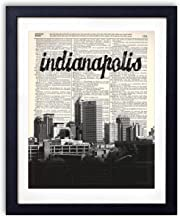 Indianapolis Skyline With Name Vertical Dictionary Art Print 8x10