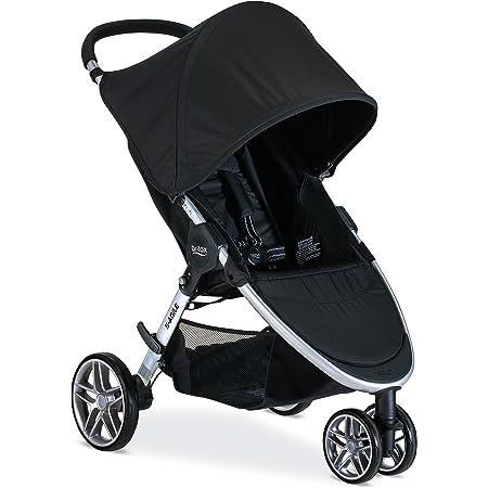 Britax B-Agile Lightweight Stroller, Black - One Hand Fold, Large UPF50+ Canopy, All Wheel Suspension