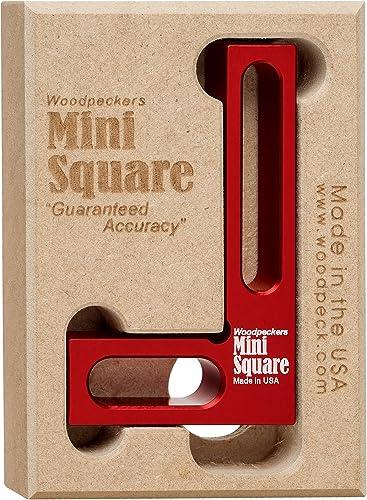 Woodpeckers Mini Square, Small Pocket Wood Working Tool, Check Square on Carpenter Cutting Tools, Premium Precision W...