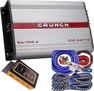 $96 » Crunch SA-1100.4 Smash Series 1,100-Watt 4-Channel Class AB Amp Car Audio Sound System Subwoofer Speaker Amp Amplifier wit...