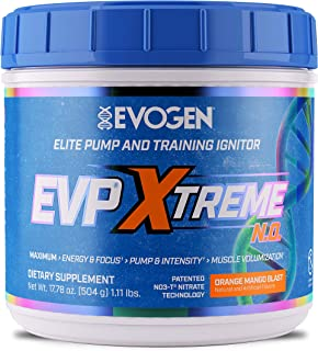 Evogen Nutrition EVP Xtreme NO | Arginine Nitrate, Beta-Alanine, Citrulline Pre-Workout, Nitric Oxide, Pumps | 40 Servings...