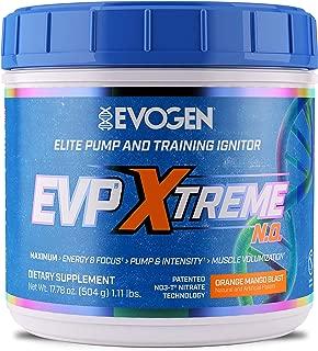 Evogen Nutrition EVP Xtreme NO | Arginine Nitrate, Beta-Alanine, Citrulline Pre-Workout, Nitric Oxide, Pumps | 40 Servings | Orange Mango