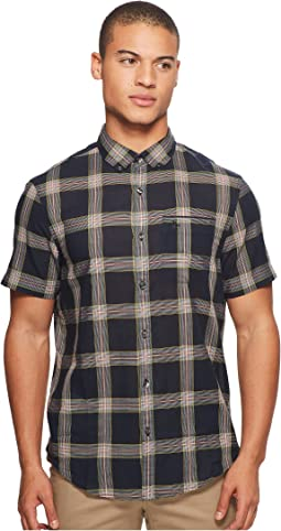 Original Penguin - Short Sleeve Textured Plaid Shirt